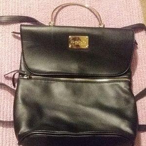 Bebe Black & Gold Backpack